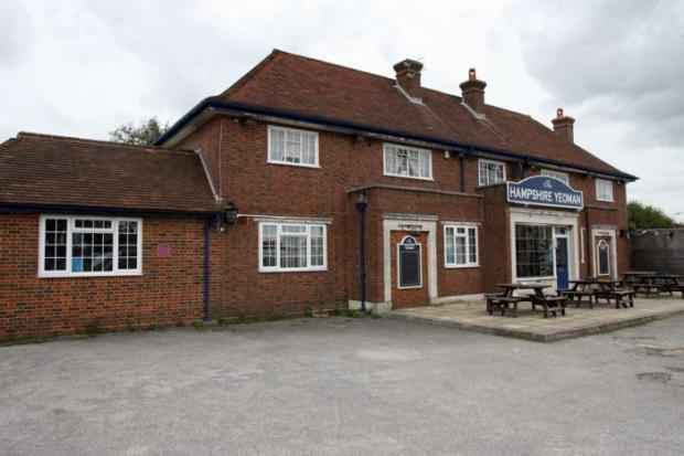 The Hampshire Yeoman pub in Blackfield.