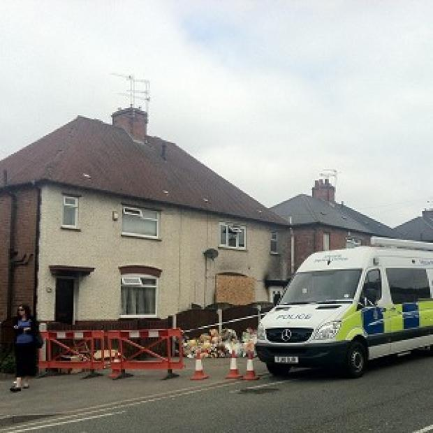 Daily Echo: The property in Derby where six children were killed in a fire earlier this year