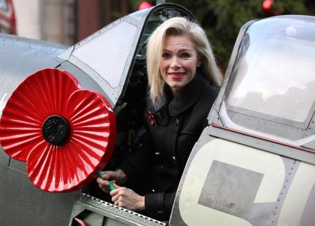 Model Nell McAndrew launched a £1million a day poppy appeal earlier this month