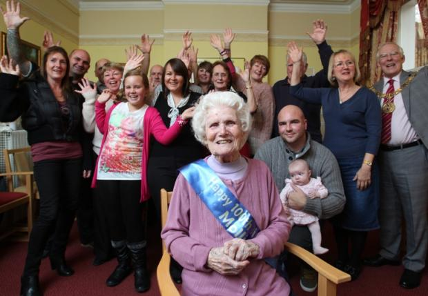 Mollie celebrates her 100th birthday