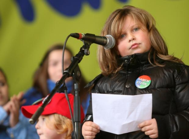 Britt Thijs, nine, daughter of a Ford Genk worker