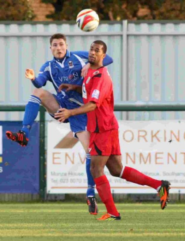 Totton on the attack against Basingstoke on Saturday.