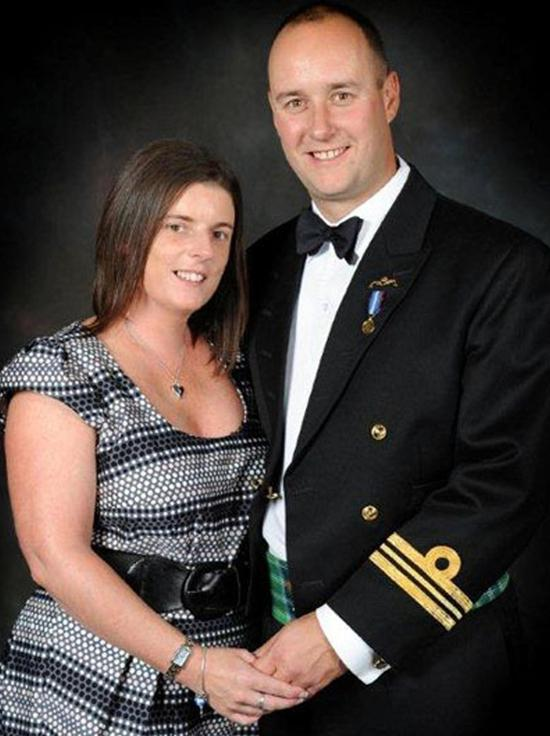 Lieutenant Commander Ian Molyneux with widow Gillian