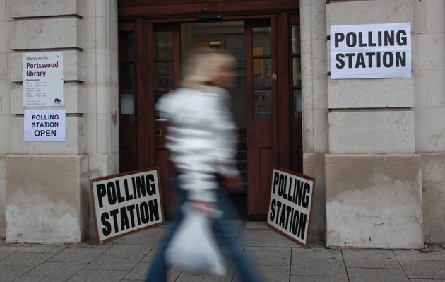 Portswood Library in Southampton was being used as a polling station, but turnout was low