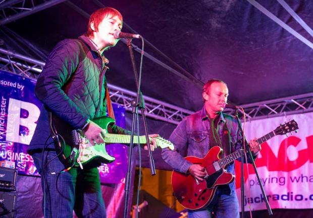 Members of Ocean Colour Scene performing in Winchester.