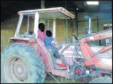 The tractor was stolen from Brockenhurst Park