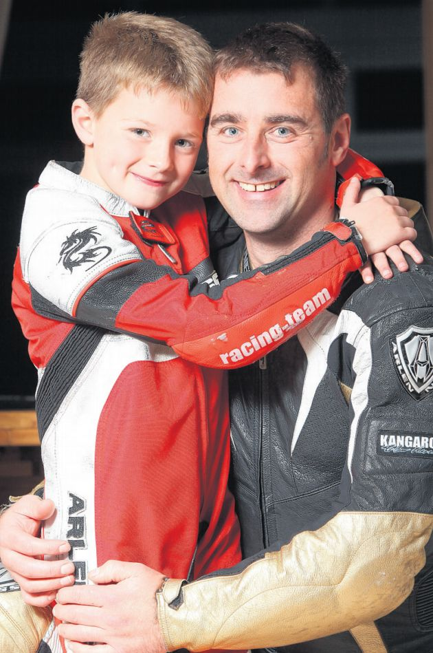John Crockford: I nearly died in 130mph bike crash - now my son, 7, will race too