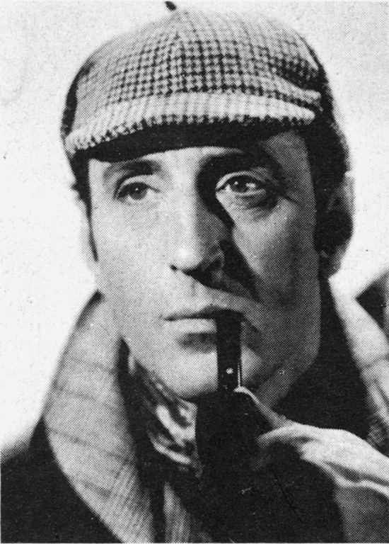 Actor Basil Rathbone as Sherlock Holmes