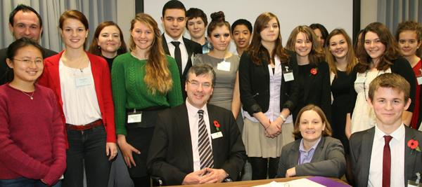 Blake Lapthorn Solicitors host a mock trial event, with Judge Richard Portlock (centre) taking part.