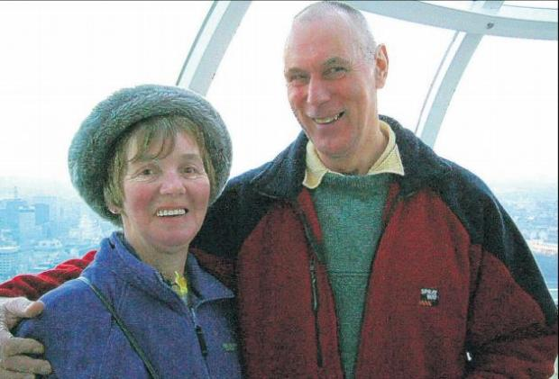 Daily Echo: Bob Baker with wife Helen