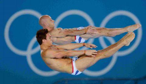 Daily Echo: Tom Daley, foreground, and Peter Waterfield