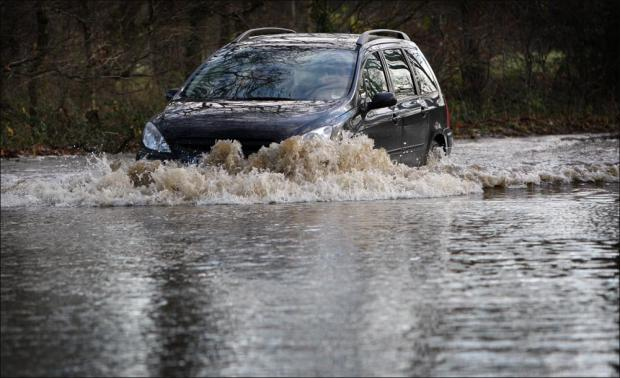 Flood risk on two rivers as non-stop rain batters Hampshire