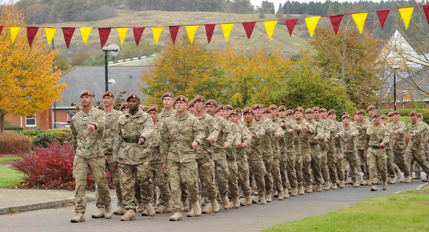 Welcome home for Royal Hussars