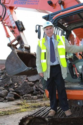 Council leader Keith Wood pictured at the site