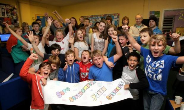 Young people at Woolston Youth Project in Southampton, one of eight city clubs under threat.
