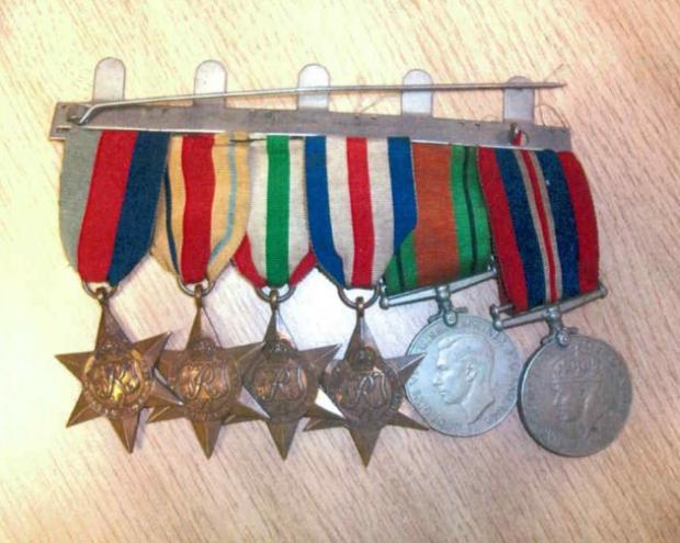 Daily Echo: Medals - thought to have been stolen.