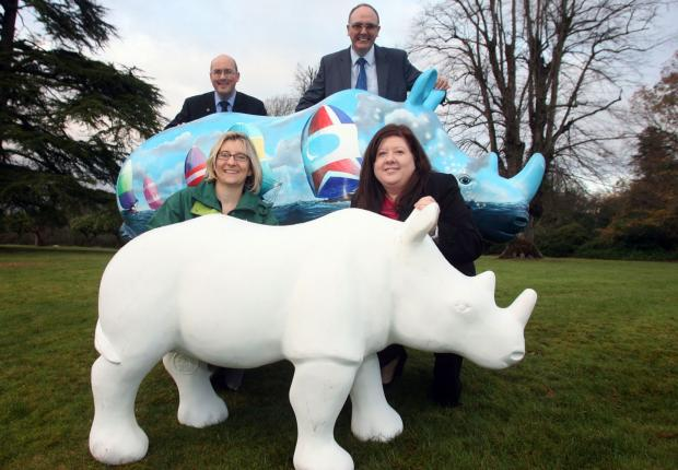Neil Brailsford (left) and Gavin Elliott with Kirstie Mathieson (left) and Shirley Pinn