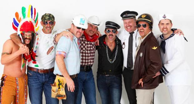 HAIRY MO-MENTS: Pictured from left are Canotec's Duane Flavell, Lee Bradley, Steve Cooper, Steve Barrat, Richard Vinall, Ben Elmore, David Newman and Mike Way.
