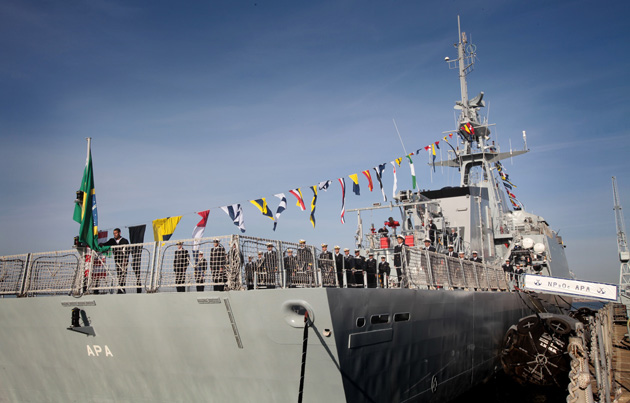 New ship handed over to Brazilian navy in by Hampshire firm