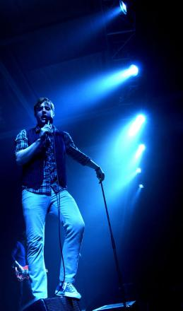 Frontman Ricky Wilson performs