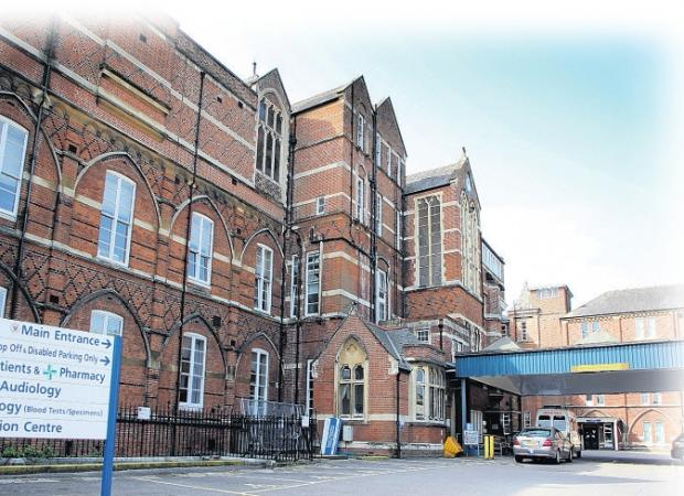 Royal Hampshire County Hospital where maternity services could be down-sized.