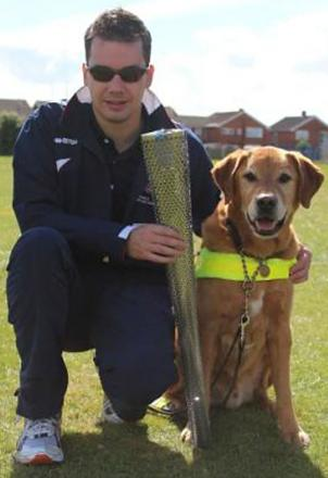 Richard Twose and his guide dog Bates