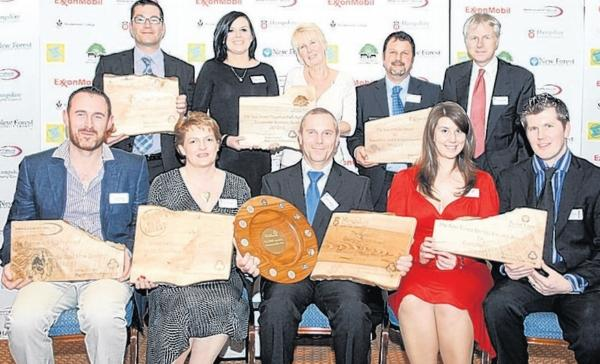 New Forest Brilliance in Business award winners.