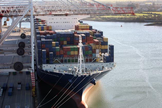 World's largest container ship leaves Southampton