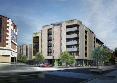 Daily Echo: An artist's impression of the new flats on the site of the former New York nightclub and McClusky's bar