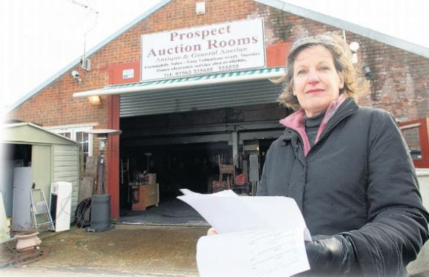 AWAITING PAYMENT: Barbara Plant, who is owed more than £800, outside Prospect Auction Rooms.