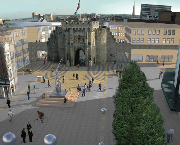 Vision to reconnect Bargate with town walls