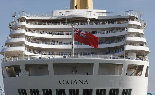 Oriana, docked in Southampton today.