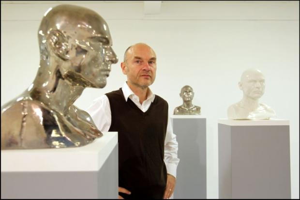 Jochem Hendricks with one of his Collapsed Avatars.