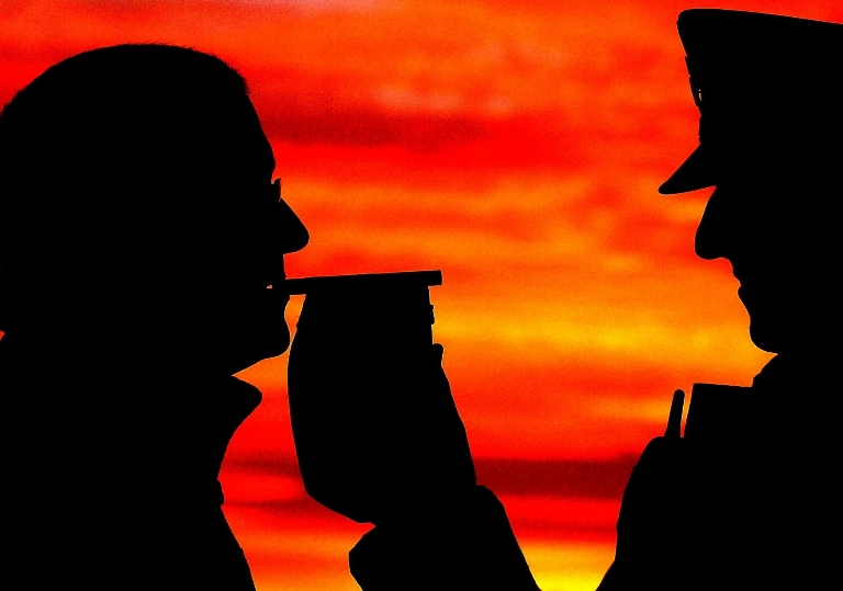 Large fall  in drink drive arrests