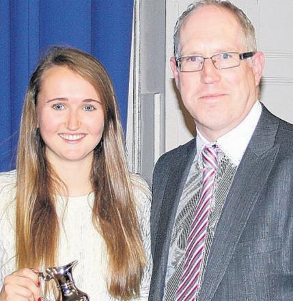 WELL DONE: Student Molly Dineen with head teacher Kyle Jonathan