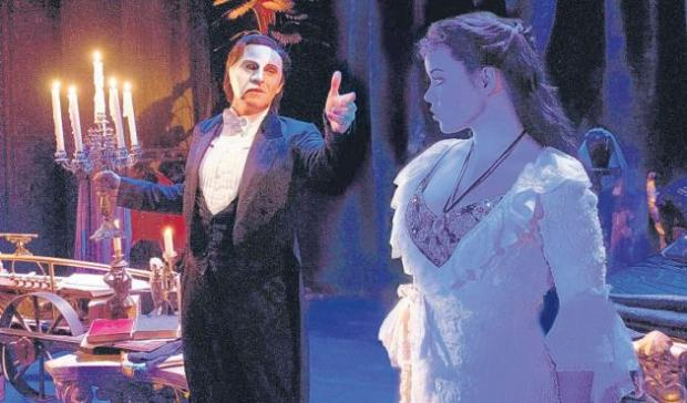 A scene from Phantom of the Opera. Picture credit: Alistair Muir