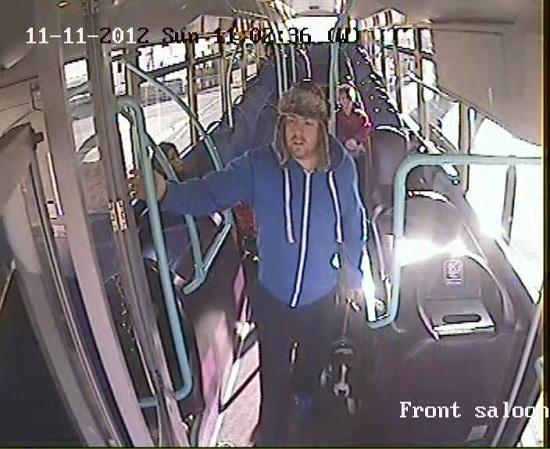 CCTV picture released of man wanted after bus driver is spat at for remembering war dead