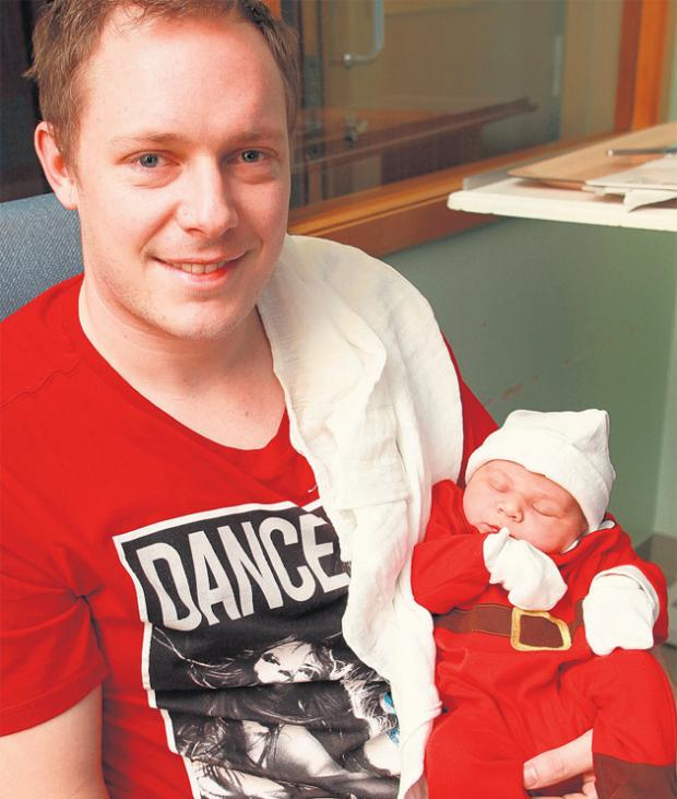 Daily Echo: Chris Egerton with son Archie