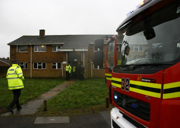 Women rescued from flat fire