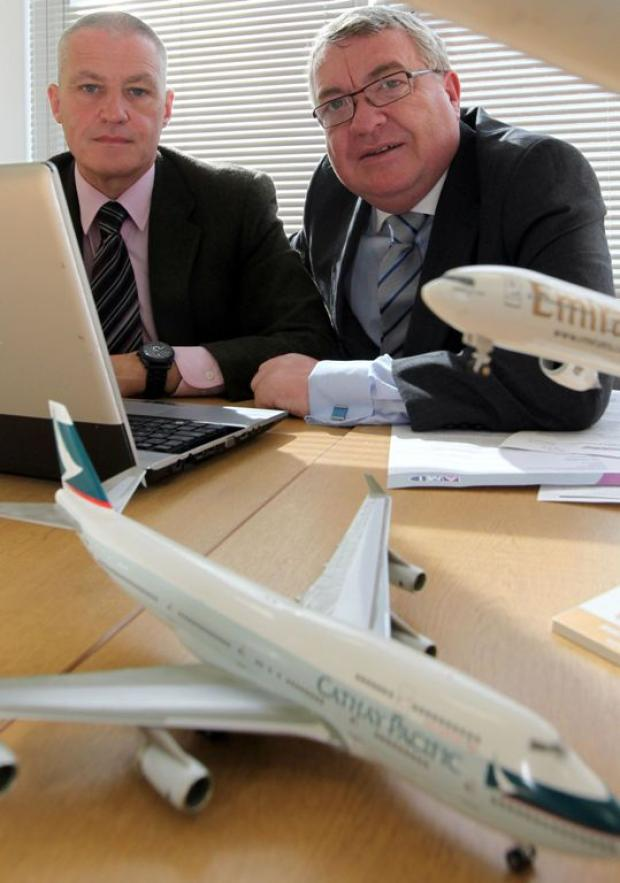 Geoff Evans and Regional Express managing director Eric Buggy