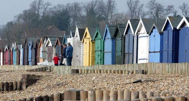 Vandals in beach hut wrecking spree