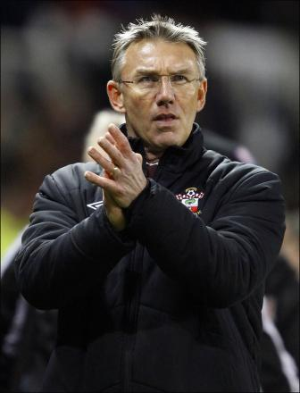 Nigel Adkins at Stoke today.