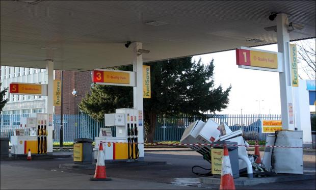 Petrol station sealed off