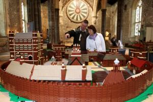 Lego model of Tudor castle on display