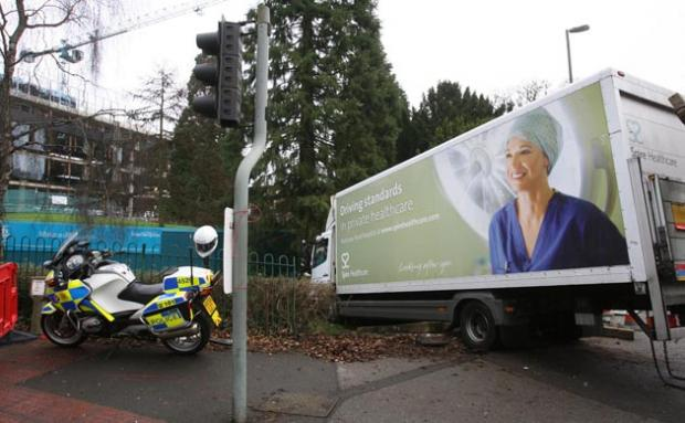 The scene following the lorry crash on The Avenue in Southampton