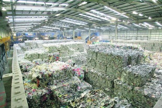 The DS Smith Recycling plant at Hounsdown Business Park