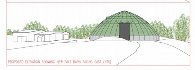 An artist's impression of the new salt dome.