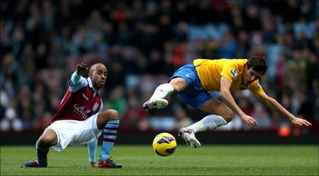 Images from the Premier League match between Aston Villa and Saints. The unauthorised downloading, copying, editing, or distribution of this image is strictly prohibited.
