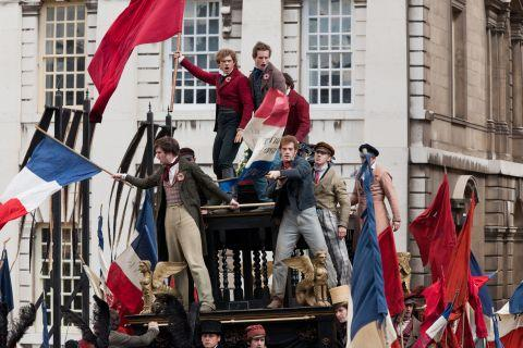 Daily Echo: A scene from Tom Hooper's new features film Les Miserables, parts of which were filmed in Hampshire