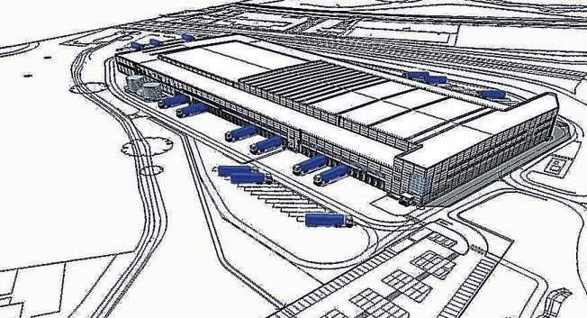 How the Lidl distribution centre will look